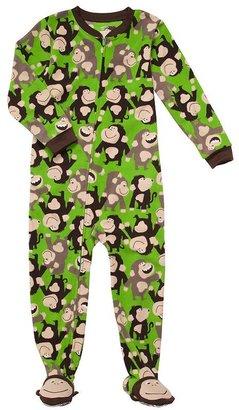Carter's monkey fleece footed pajamas - boys 4-7