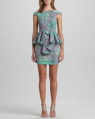 Kelli & Talulah Divine Stone Peplum Dress, Turquoise