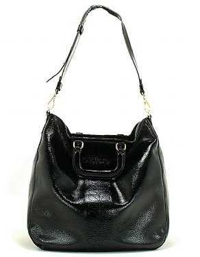 Orla Kiely Soft Patent Leather Burdock Bag