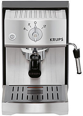 Krups Precise Tamp Stainless Steel Manual Espresso Machine