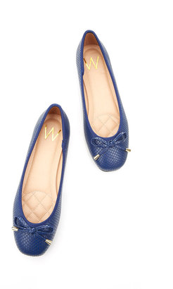 Wallis Navy Blue Square Toe Shoe