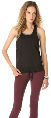 So Low SOLOW Mesh Tank with Contrast Bra
