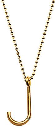 Ariel Gordon J Initial Pendant Necklace