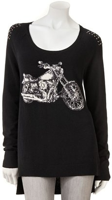 Rock & Republic motorcycle embellished tunic sweater - women's