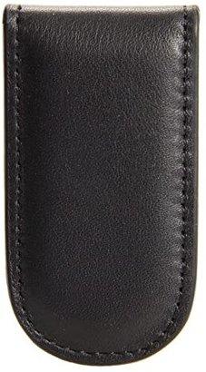 Bosca Nappa Vitello Collection - Magnetic Money Clip (Black Leather) Wallet