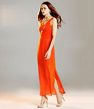 Vince Camuto Mesh-Overlay Maxi Dress