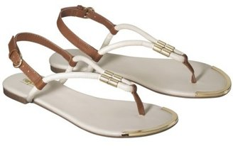 Mossimo Women's Nina Braided Strap Thong Sandal - Off White