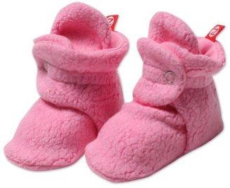 Zutano Unisex-Baby Infant Cozie Fleece Bootie, Hot Pink, 12 Months