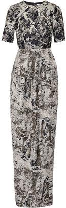 Prabal Gurung Metallic jacquard gown