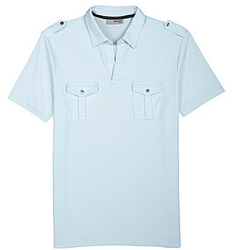 Murano Short-Sleeve Liquid Luxury Slim Johnny Shirt