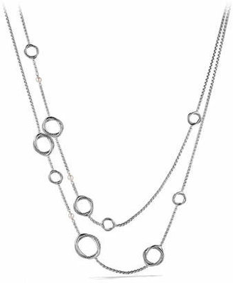 David Yurman Infinity Necklace with Pearls