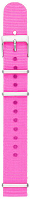 Fossil Polyester 18mm Watch Strap - Pink