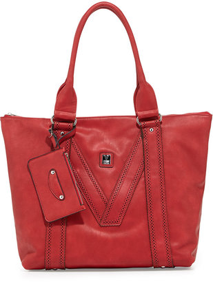 Kooba V Couture by V Perforated-Trim Tote Bag, Red