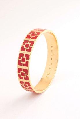 Trina Turk Red Enamel Brick Bangle