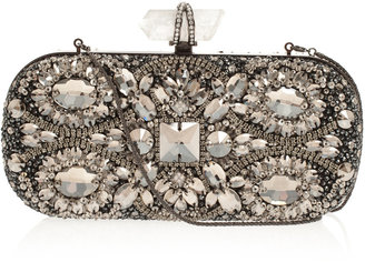 Marchesa Lily Embroidered Clutch Bag
