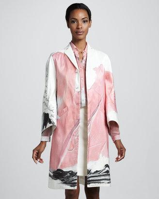Chado Ralph Rucci Printed Coat, Pink