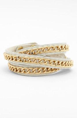 Tasha Leather Wrap Bracelet