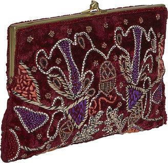 Moyna Handbags Beaded Velvet Clutch
