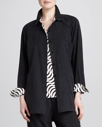 Go Silk Button-Front Shirt, Petite