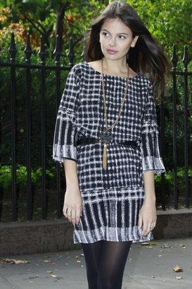 NU New York Black Patterned Shift Dress