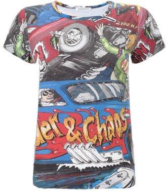 J.W.Anderson Car Print Cotton T-Shirt