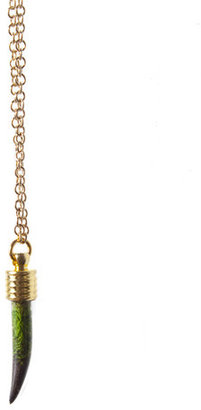 With Roots Tusk Necklace Gold Plate