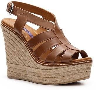 Ralph Lauren Fianna Leather Wedge Sandal