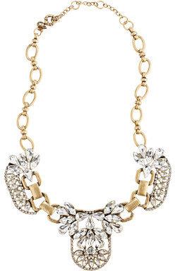 J.Crew Crystal cluster necklace