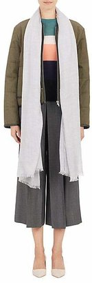 Barneys New York Women's Oversized Solid Scarf - Light Gray