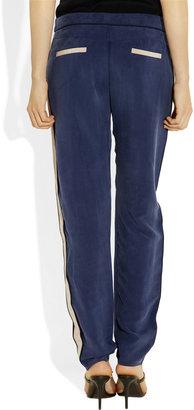 Tibi Striped washed cupro-blend pants