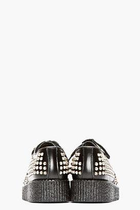 Underground Black Studded Leather Wulfrun Creepers