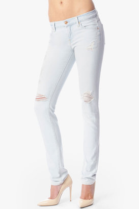 7 For All Mankind Roxanne Original Skinny In Distressed Light