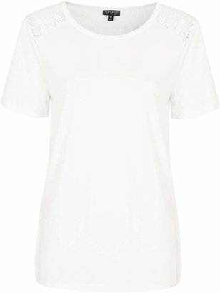 Topshop Lace back tee