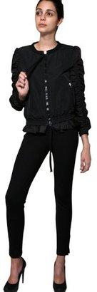 Hana Nylon Jacket With Ruched Sleeves