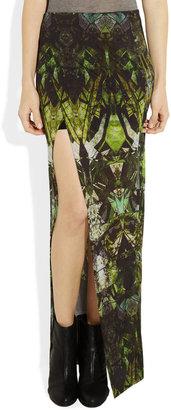 Helmut Lang Printed modal-jersey maxi skirt