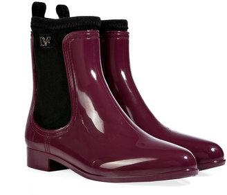 Diane von Furstenberg Rain Boots in Deep Cherry