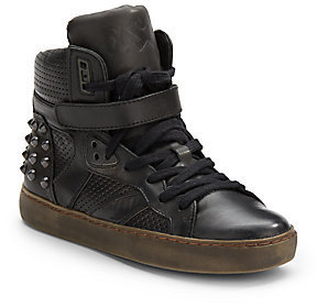 Ash Skunk High-Top Leather Sneakers