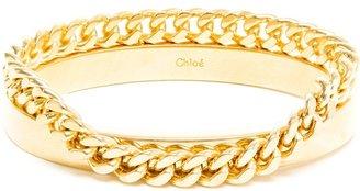 Chloé Gold Bangle and Chain Bracelet