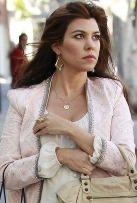 Sugar Bean Jewelry Sideways Cross Necklace in Rose Gold as Seen On Kourtney Kardashian