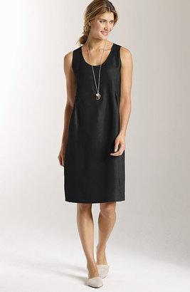 J. Jill Linen soft-pleat dress