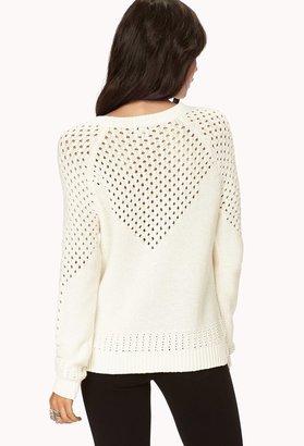 Forever 21 Open-Knit V Sweater