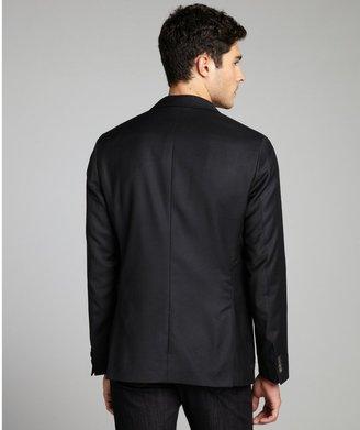 HUGO BOSS Navy Wool Two Button Blazer