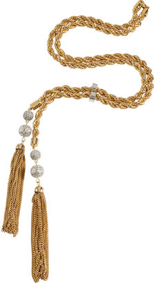 RJ Graziano Gold-Toned Runway Report Tassel Necklace