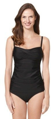 Merona Women's Tankini Swim Top -Black