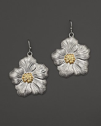 """Buccellati Blossom"""" Medium Drop Flower Earrings with Gold Accents"""