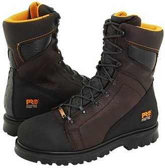 Timberland Rigmaster 8 Waterproof Steel Toe (Dark Brown/Black) Men's Work Lace-up Boots