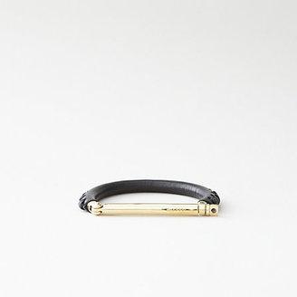 Miansai leather woven brass screw cuff