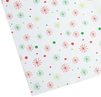 Container Store Snowflakes Waxed Tissue Sheets Red & Green Pkg/20