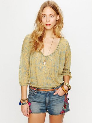 Free People Morroccan Patched Cutoff Shorts