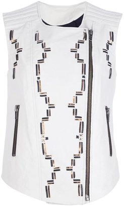 April May 'Cyprus' embroidered waistcoat